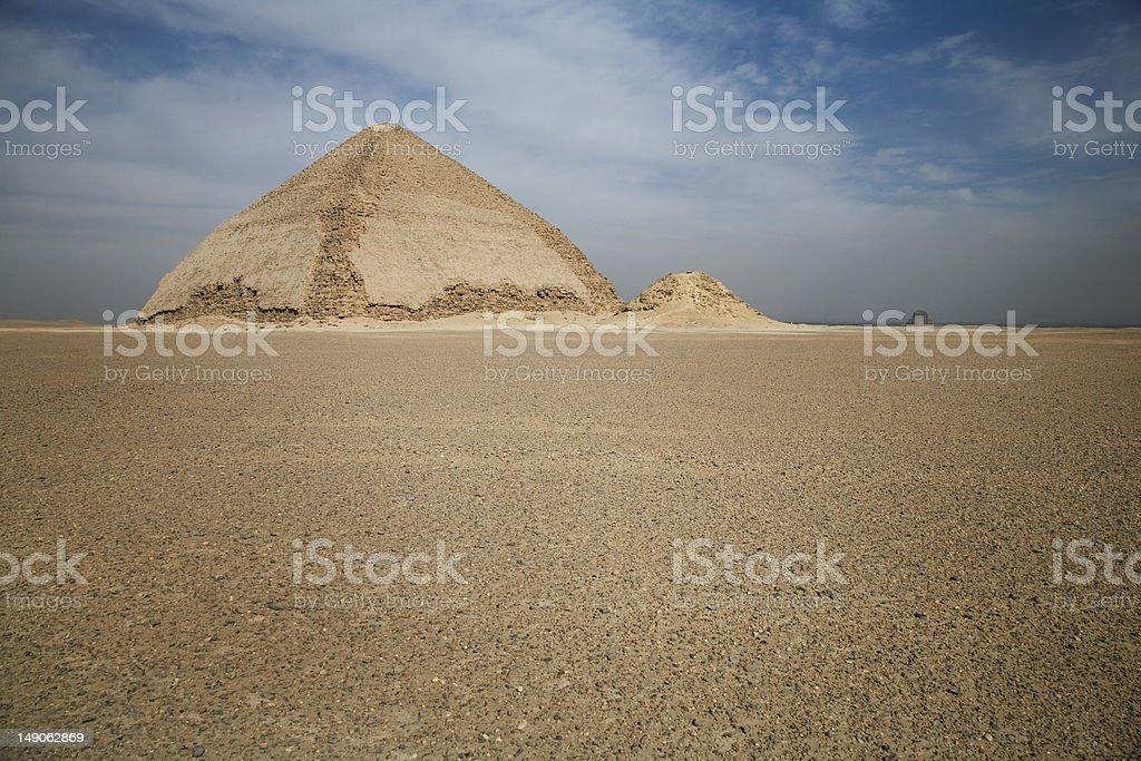 Bent Pyramid, Dashur, Egypt royalty-free stock photo