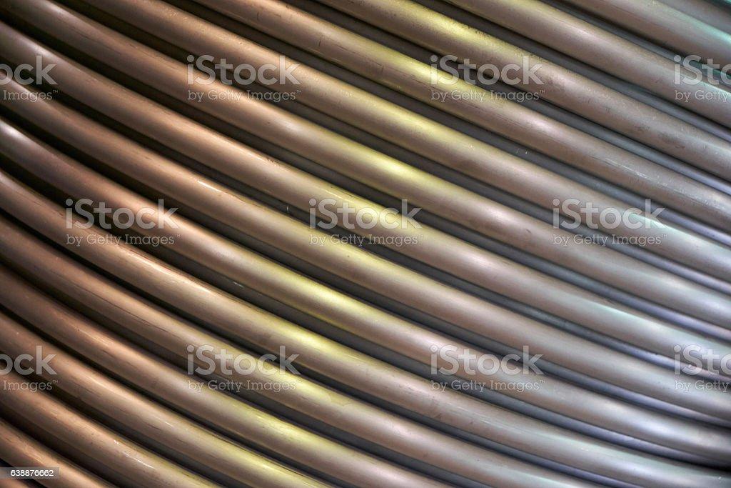 bent tubes background stock photo