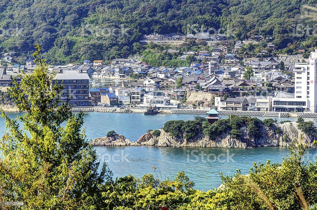 Bentenjima in Tomonoura stock photo