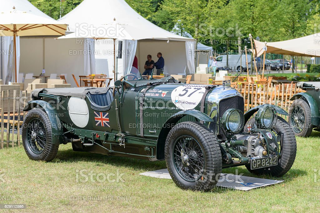 Bentley 4 1/2 Litre Supercharged in British racing green stock photo
