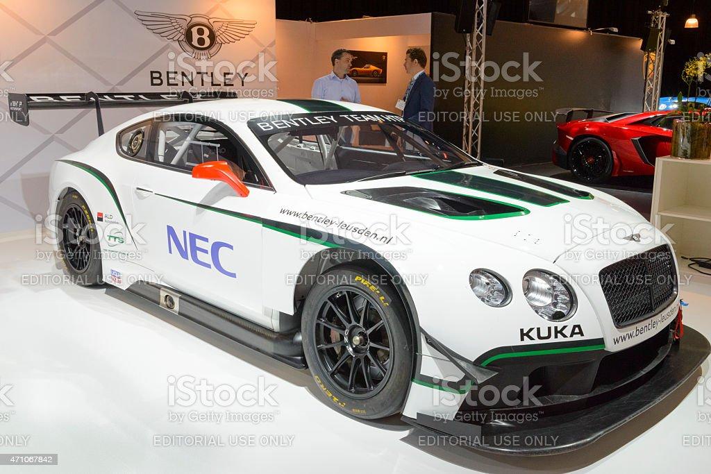 Bentley Continental GT3 racing car stock photo
