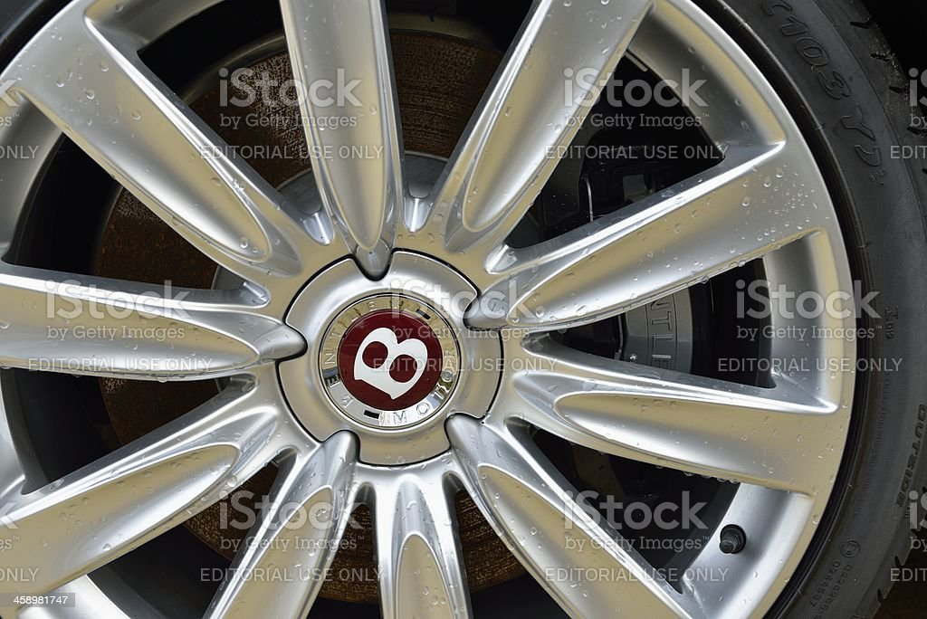 Bentley wheel stock photo