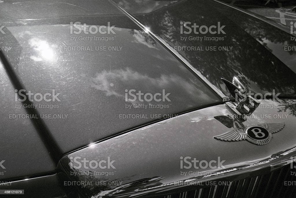 Bentley's bonnet royalty-free stock photo