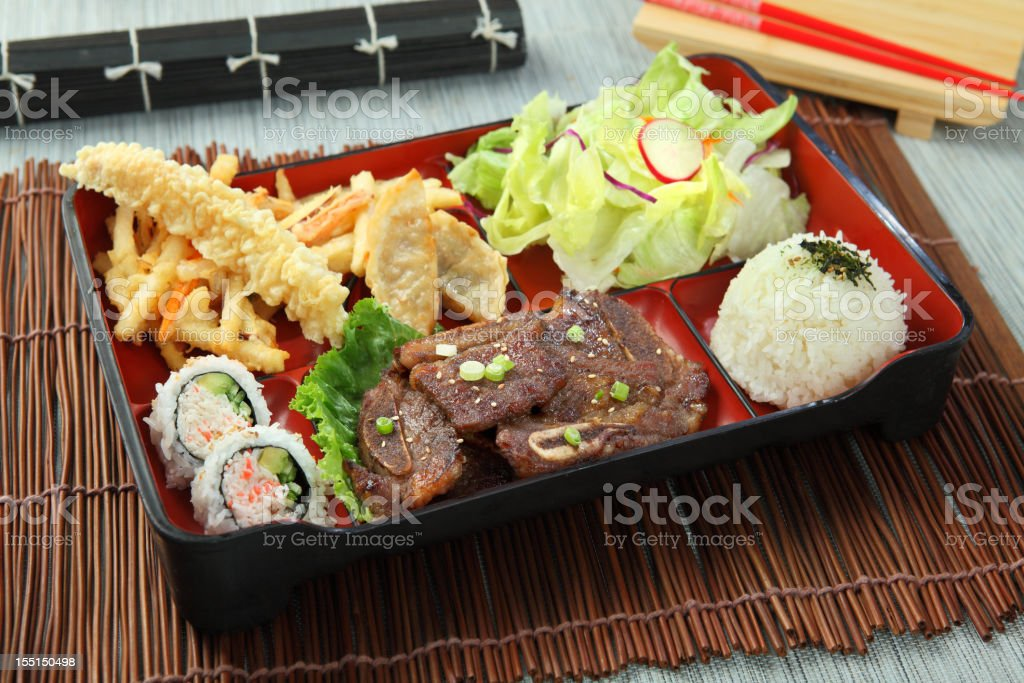 Bento - galbi royalty-free stock photo