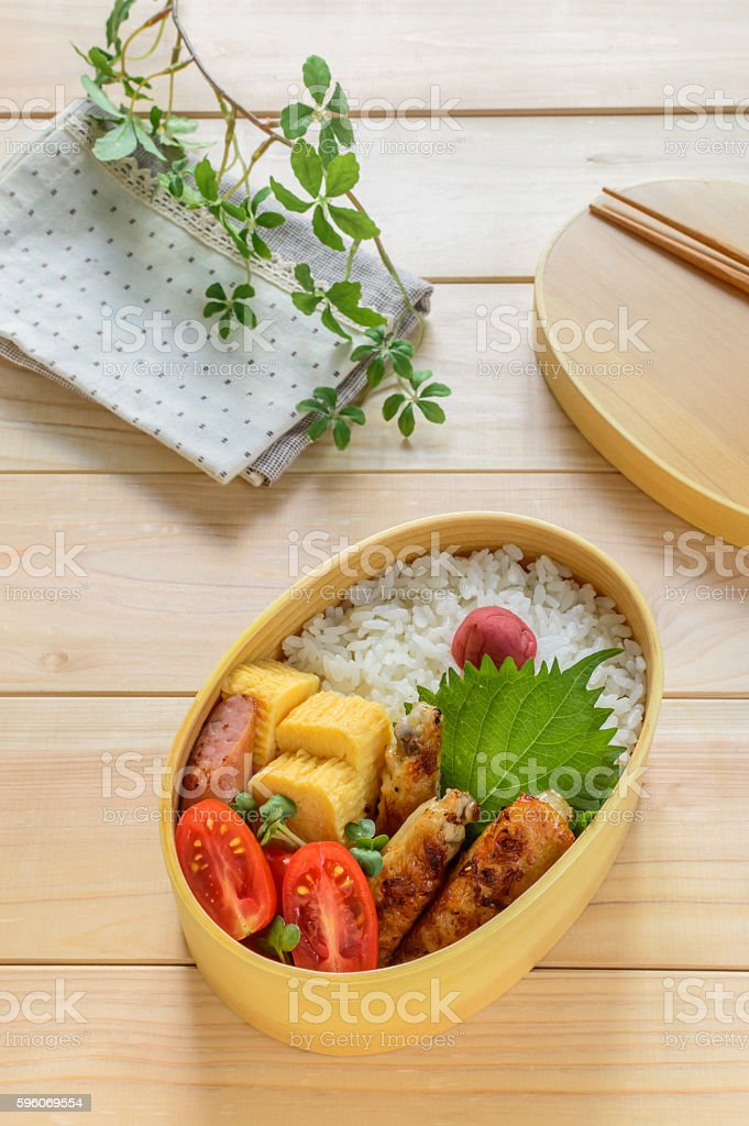 bento (a lunchbox) stock photo