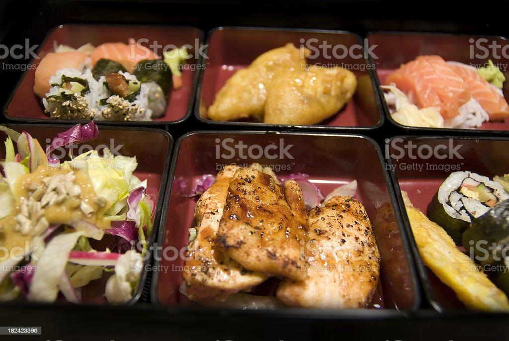bentobox - Tablett mit asiatischem Essen royalty-free stock photo