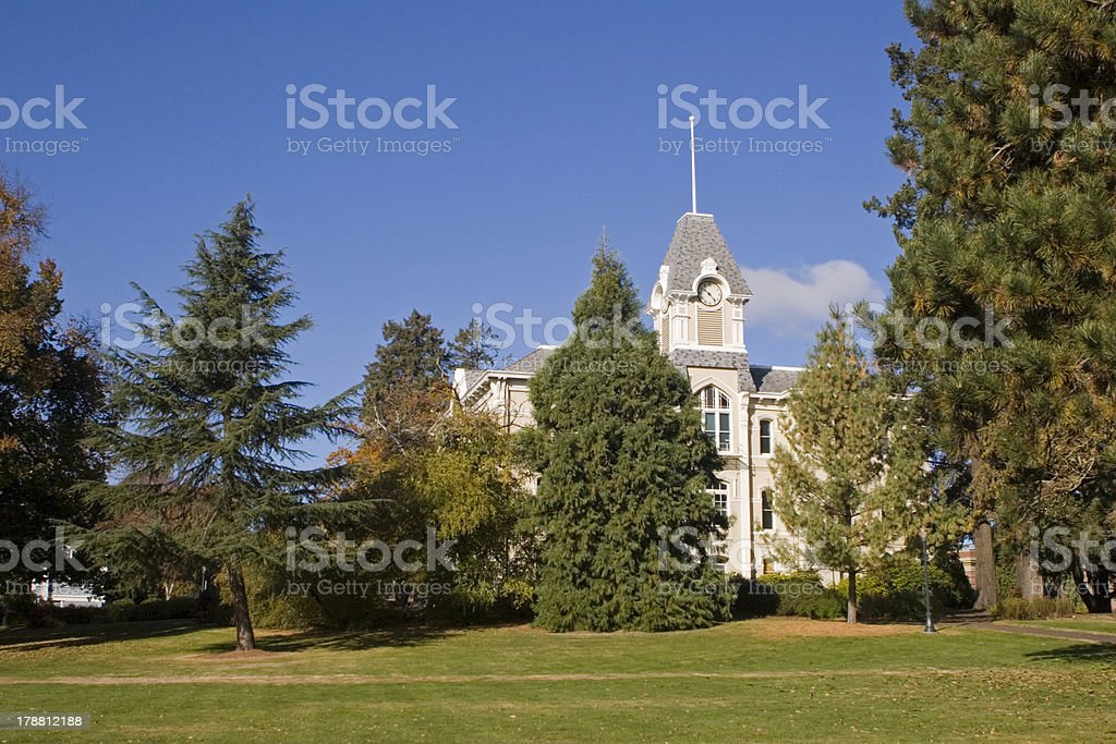Benton Hall, Oregon State University stock photo