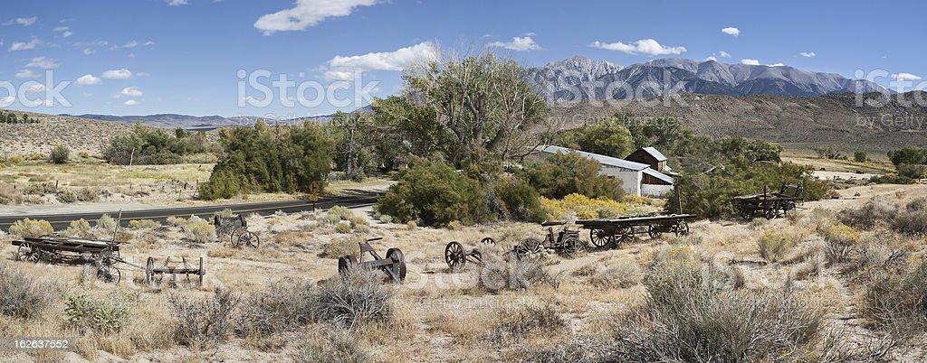 Benton Hot Springs and White Mountains stock photo