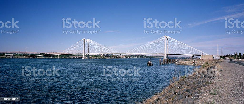 Benton-Franklin Intercounty Bridge, Tri-Cities, Washington royalty-free stock photo