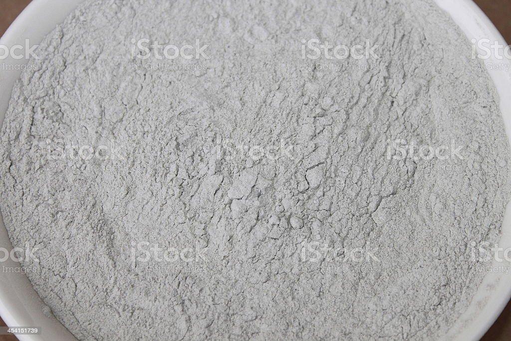 Bentonite Clay Powder stock photo