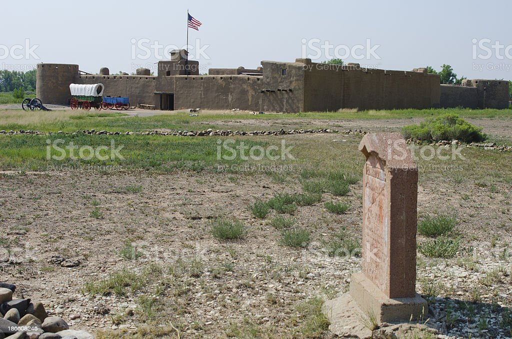 Bent's Old Fort National Historic Site and Graveyard stock photo