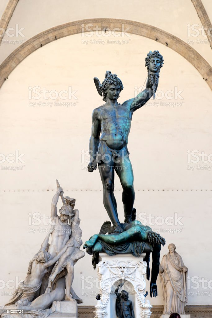 Benvenuto Cellini's Perseus with the Head of Medusa stock photo