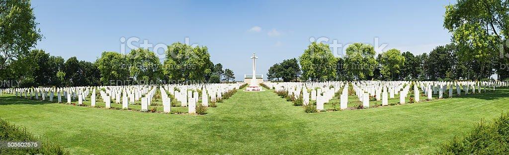 Beny Sur Mer Canadian War Cemetery stock photo