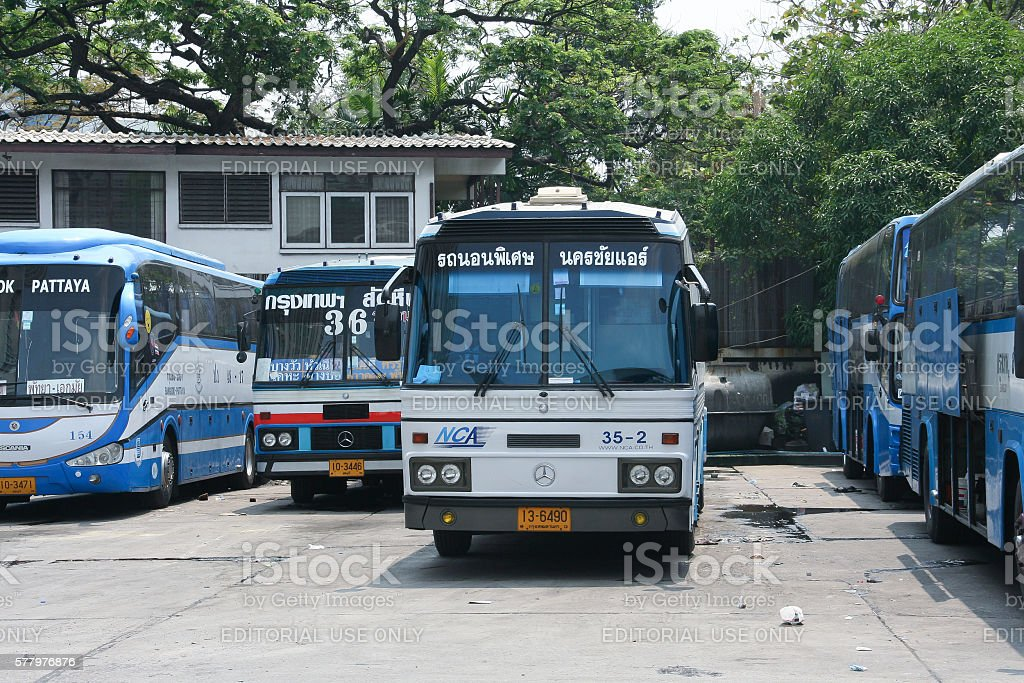 Benz Bus of Nakhonchai air. stock photo