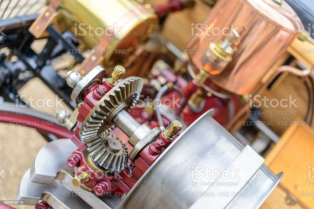 Benz Patent Motor-wagen 1886 the world's first automobile stock photo