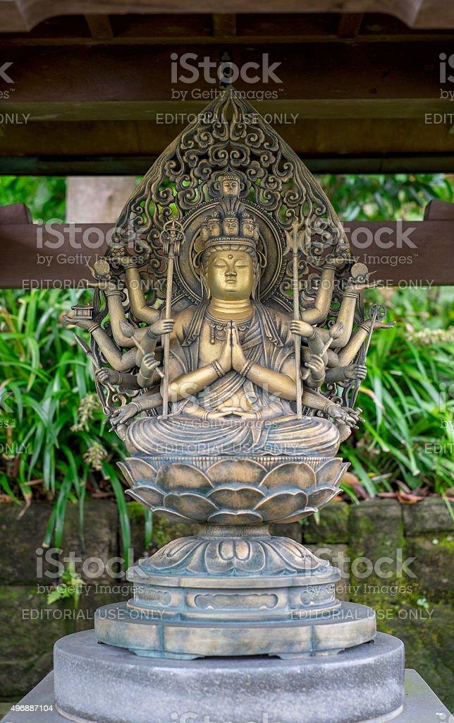 Benzaiten Statue in Hasedera Temple stock photo
