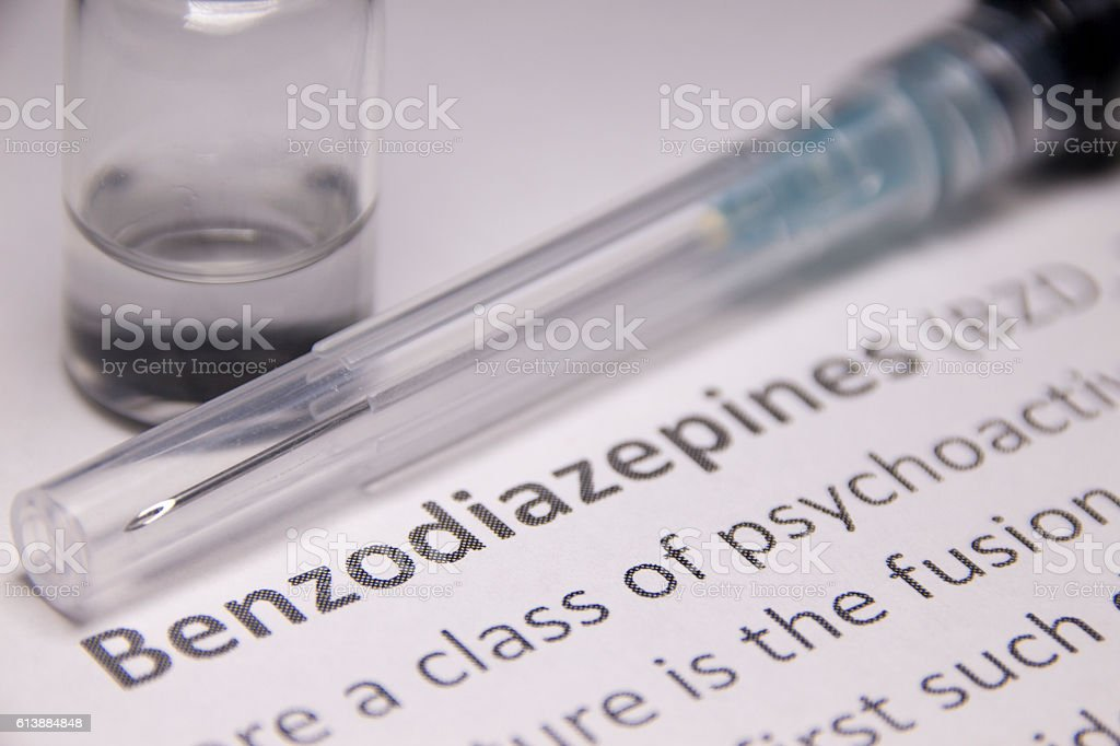 Benzodiazepine stock photo