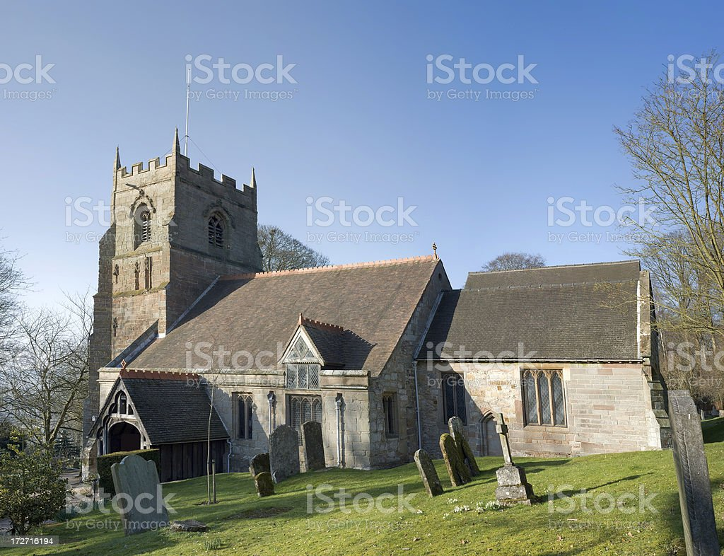 beoley church stock photo