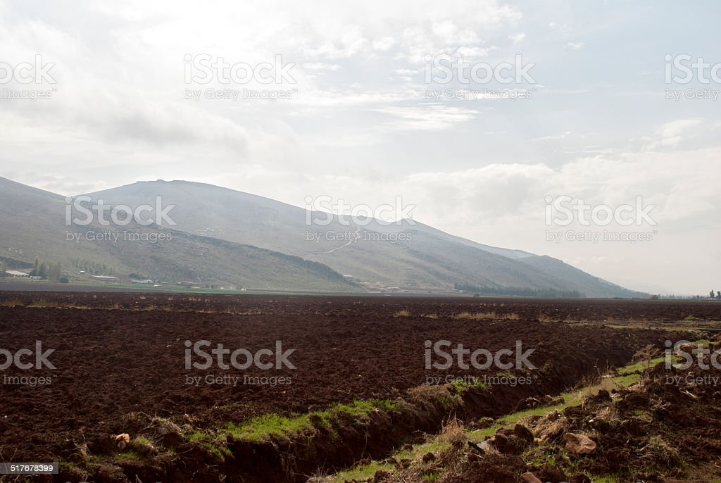 Beqaa landscape stock photo