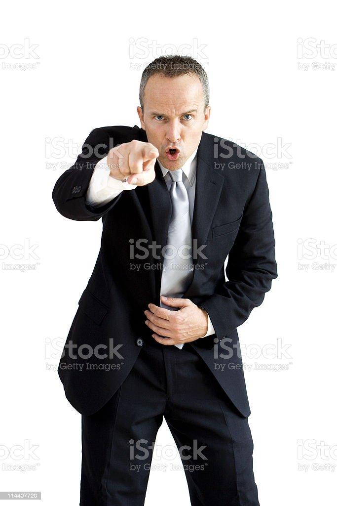 Berating Boss royalty-free stock photo