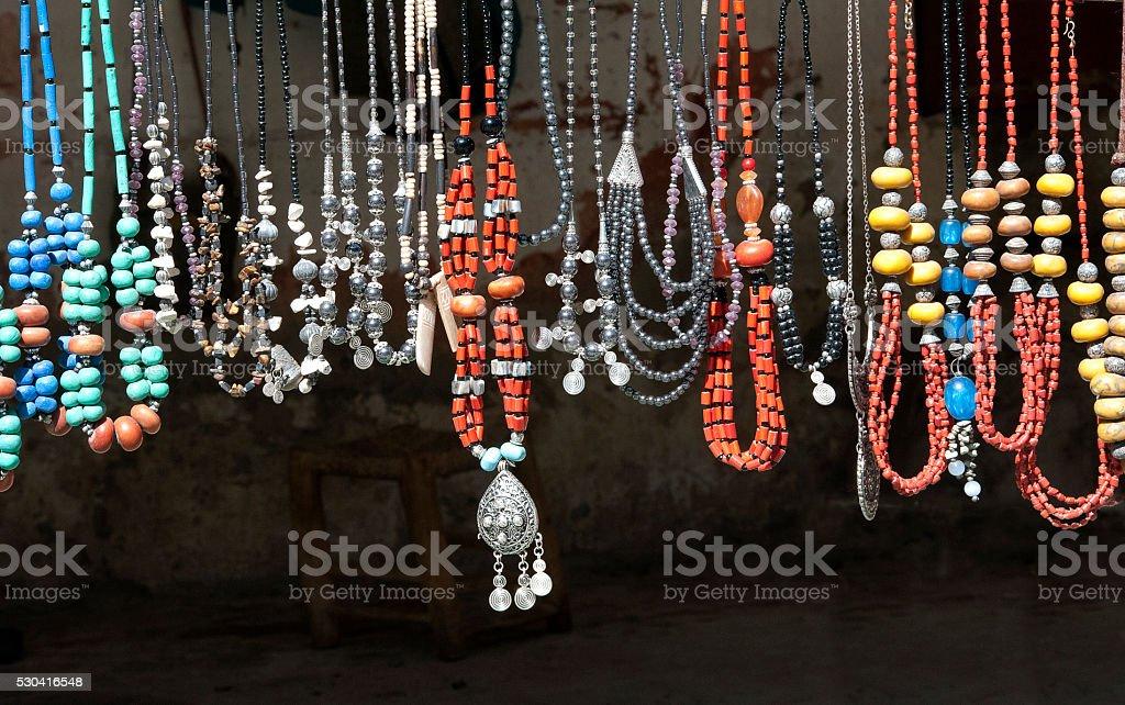 Berber beads, Morocco stock photo