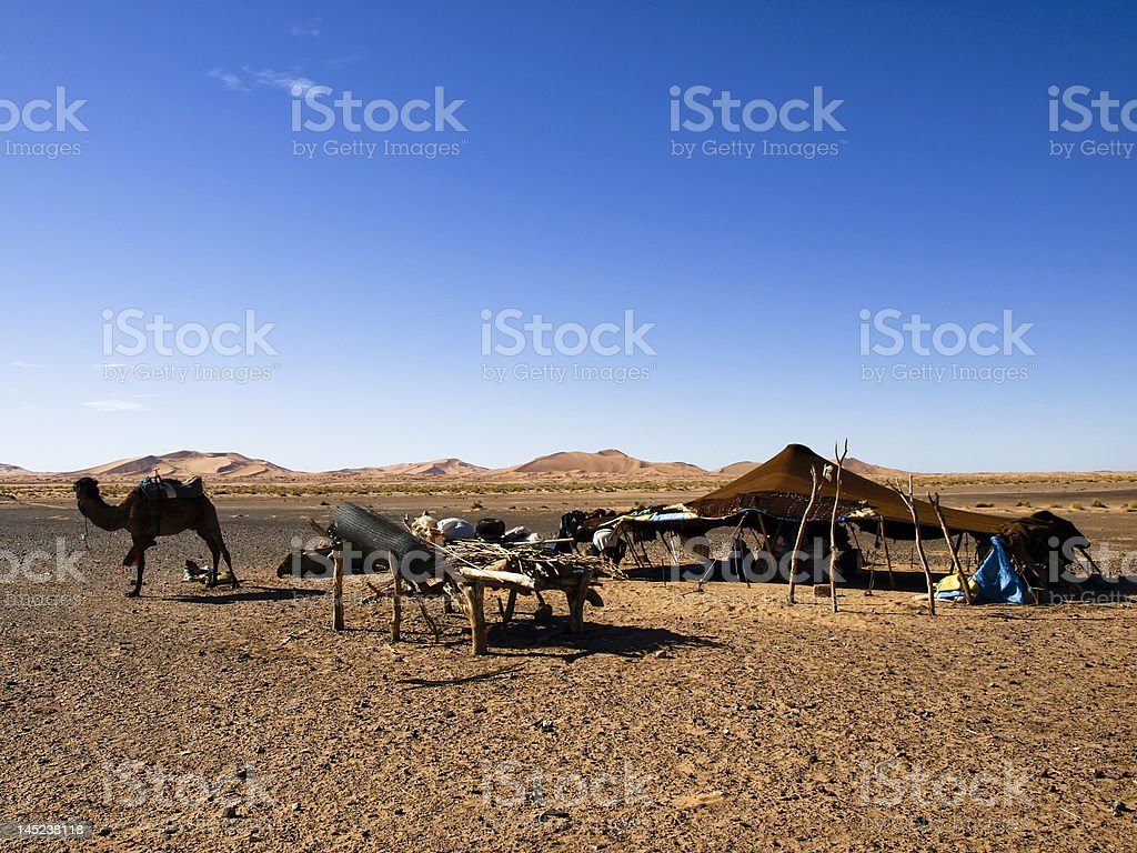 Berber bivouac stock photo