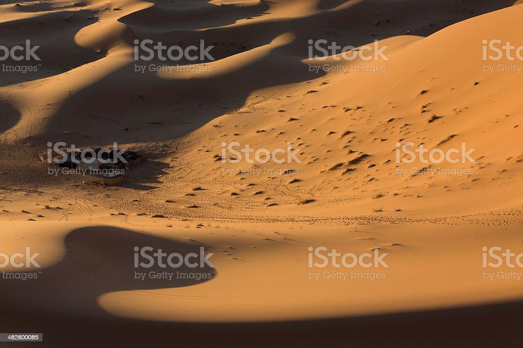 Berber camp in the Sahara desert, Morocco stock photo