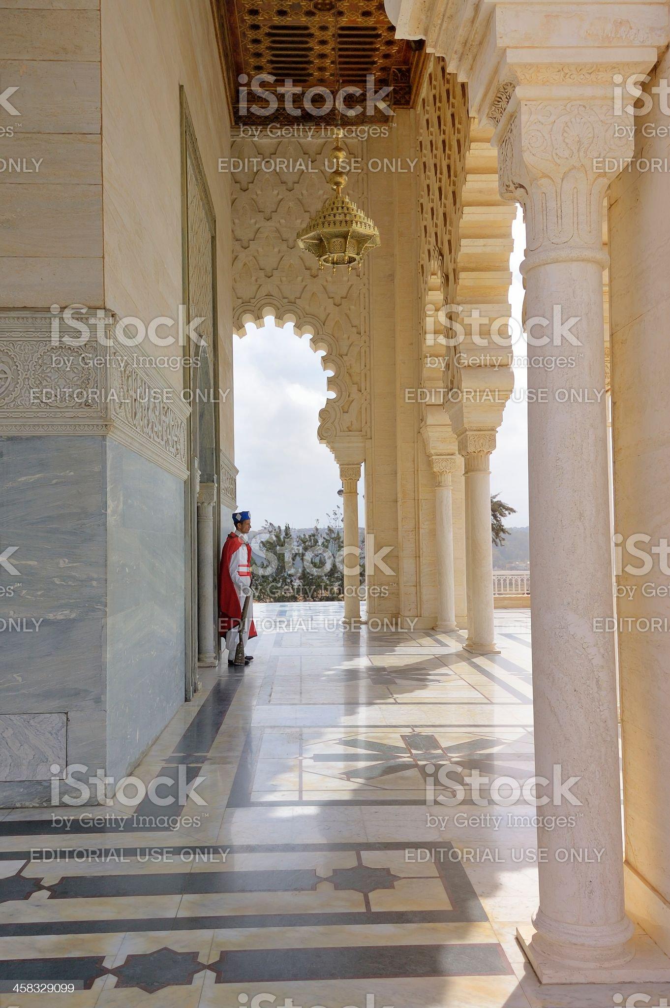 Berber Guard At Tomb Of King Hassan II royalty-free stock photo