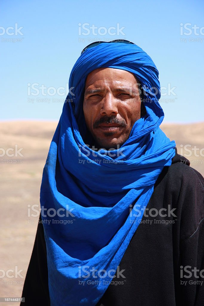 berber man in Sahara stock photo