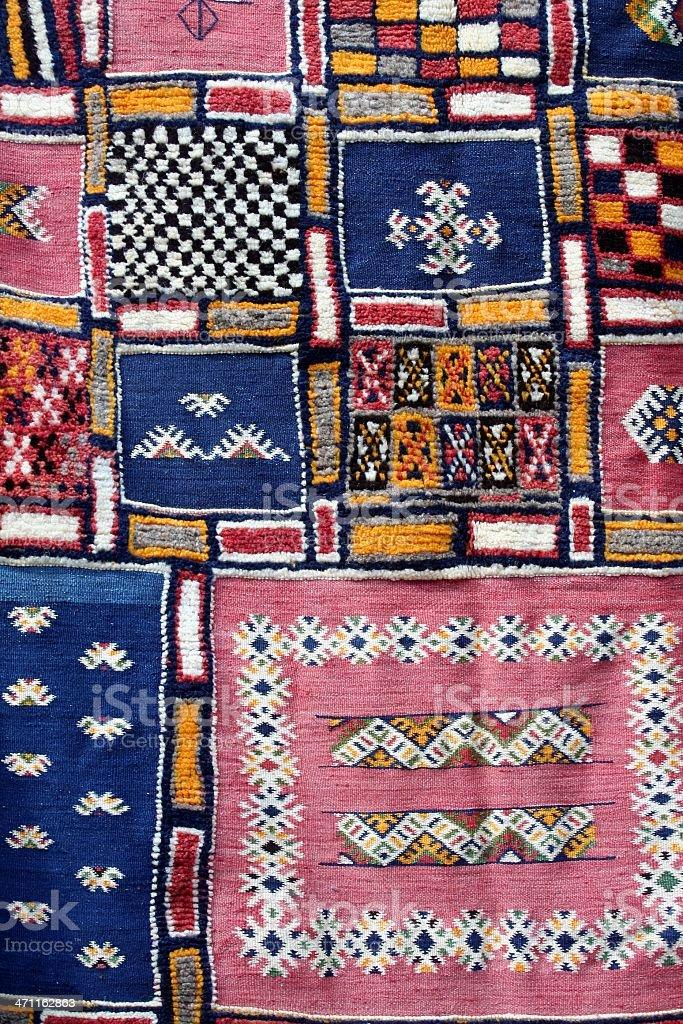 Berber rug stock photo