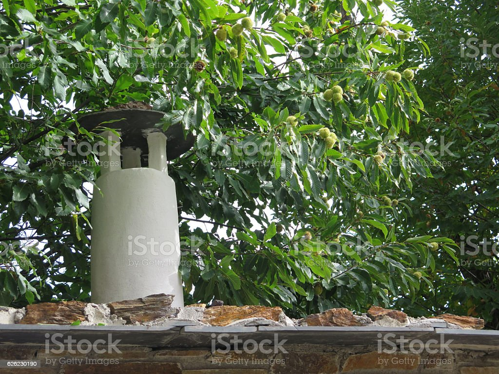Berber style chimney stock photo