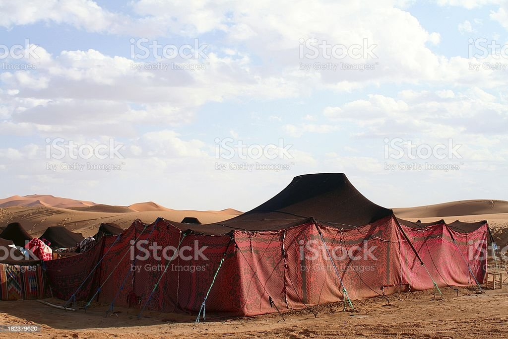 Berber tent stock photo