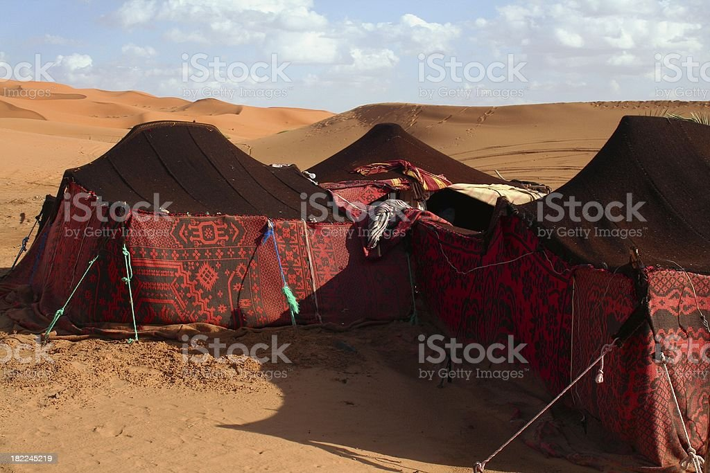 Berber tents stock photo