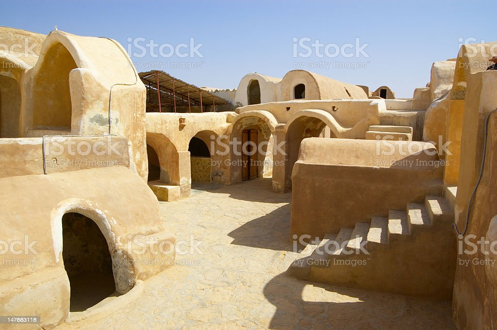 Berber town in Tunisia stock photo