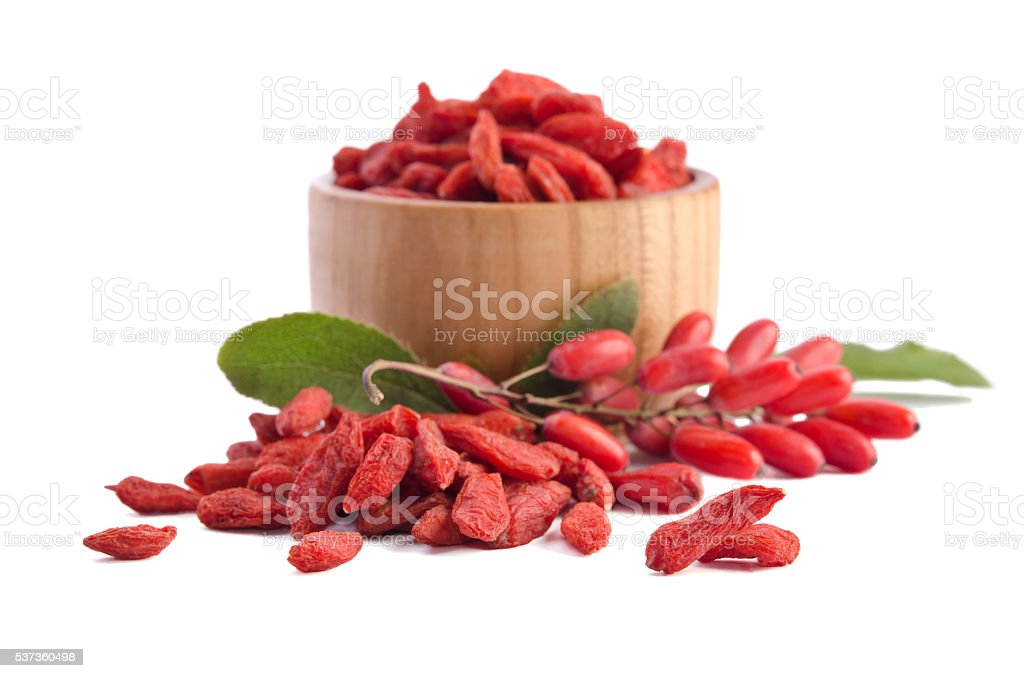 berberries and goji berries stock photo