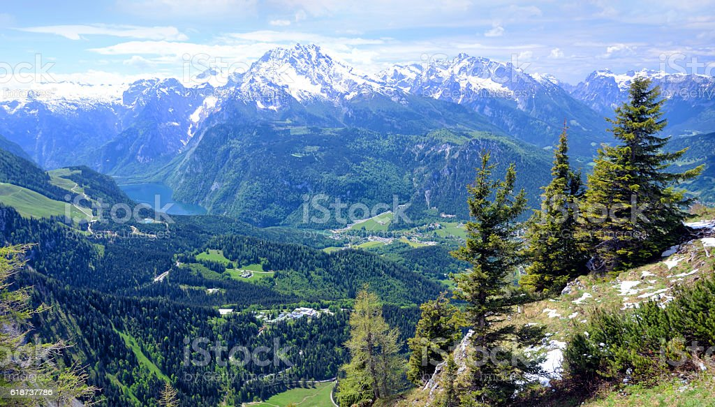 Berchtesgaden Alps stock photo
