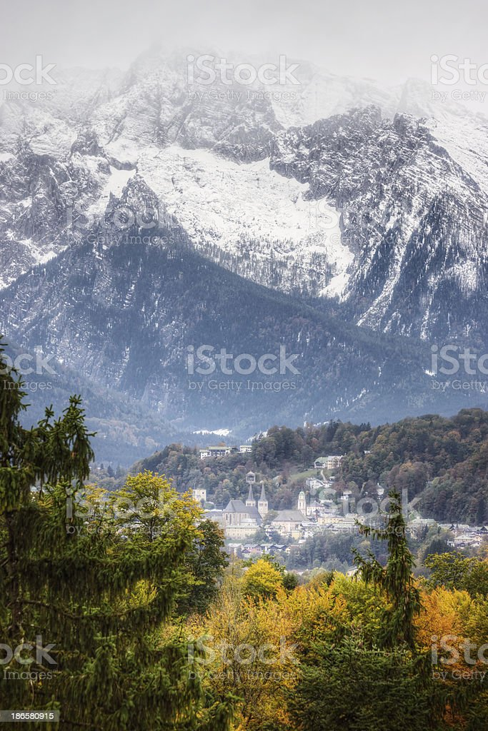 Berchtesgaden in the Bavarian Alps stock photo
