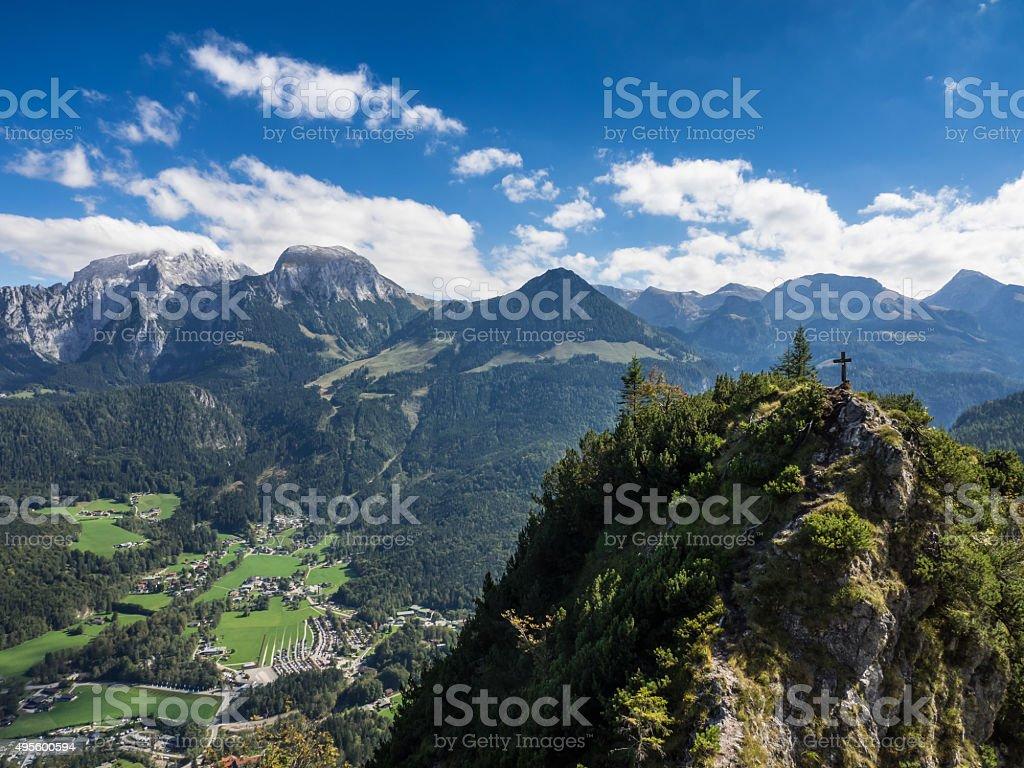 Berchtesgaden mountain range stock photo