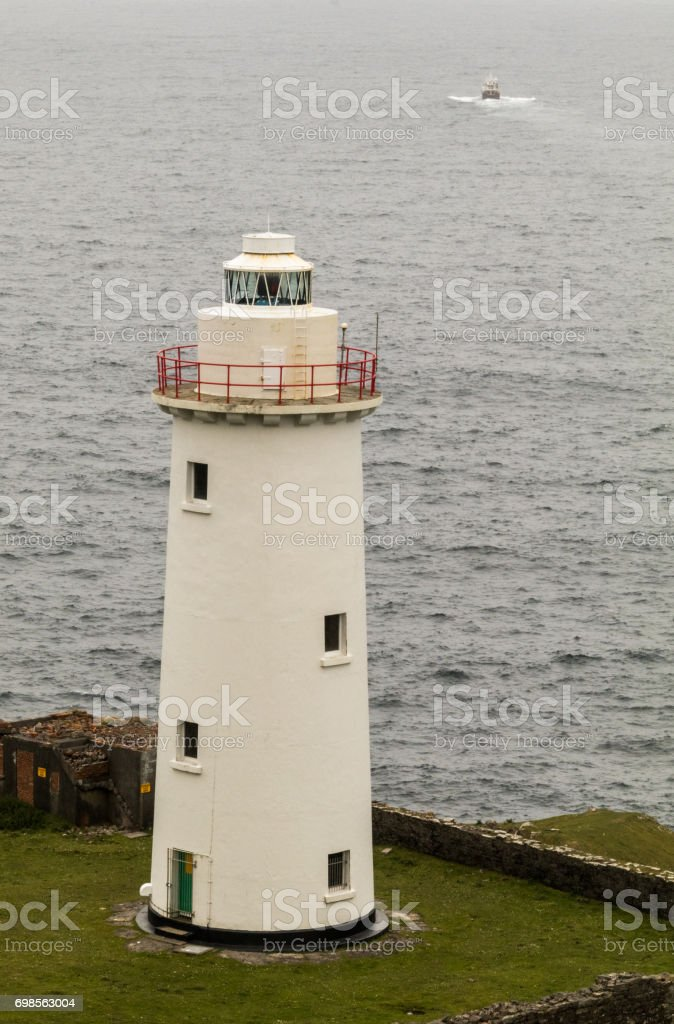 Bere Island Lighthouse (Ardnakinna) stock photo