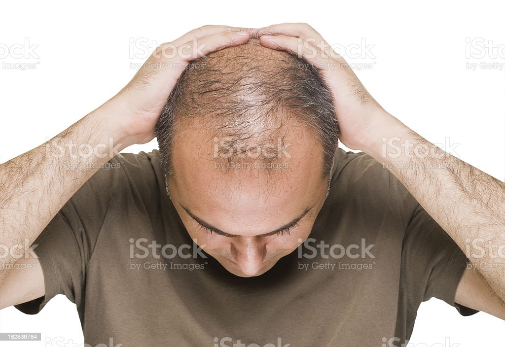 Bereaved Man Grieving royalty-free stock photo