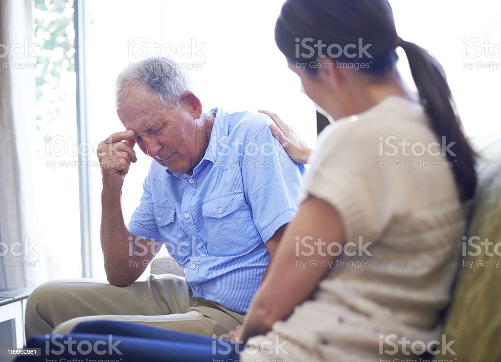 Bereavement is devastating stock photo