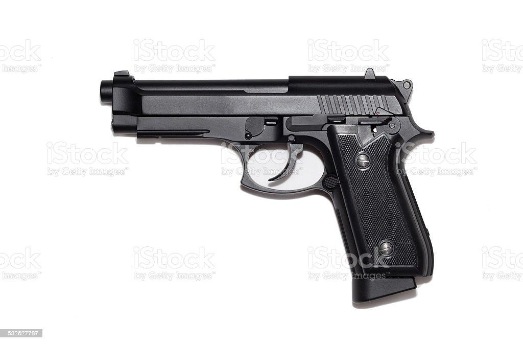 Beretta M9 gun copy isolated on white background stock photo