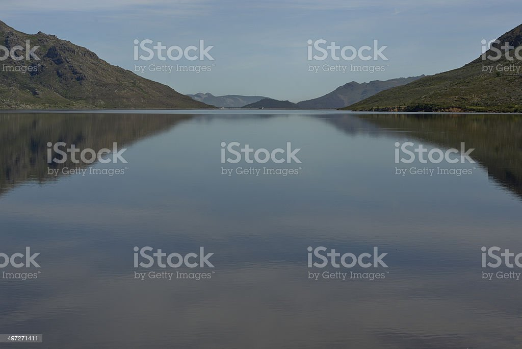 Berg River Dam clean drinking water stock photo