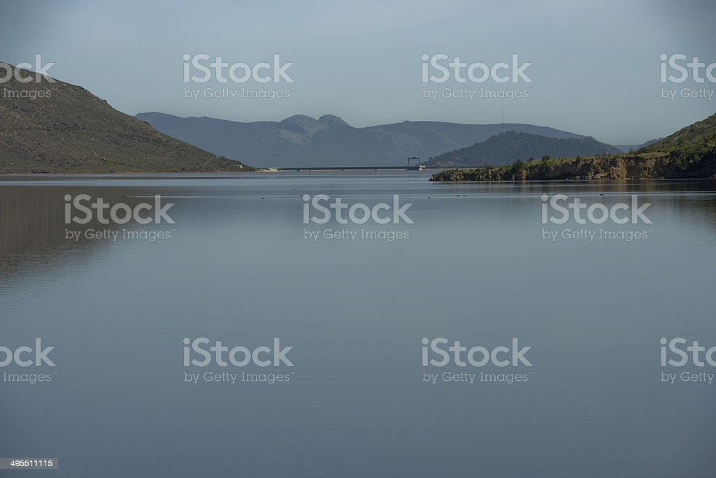 Berg River Dam wall stock photo