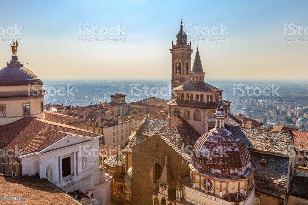 Bergamo, Basilica and Cappella Colleoni - Italy stock photo