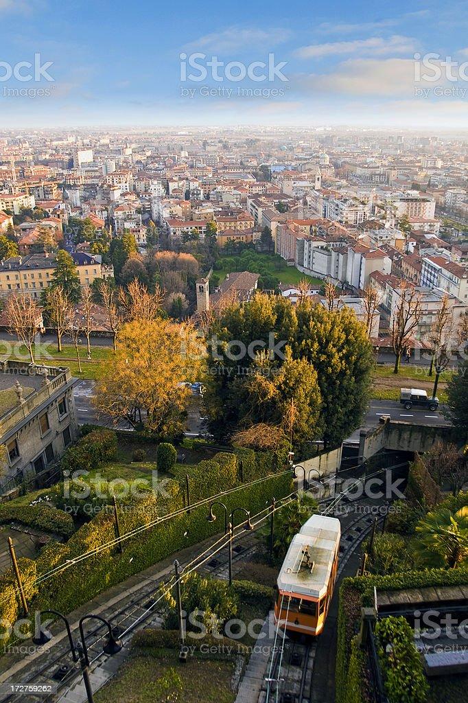 Bergamo Tram royalty-free stock photo