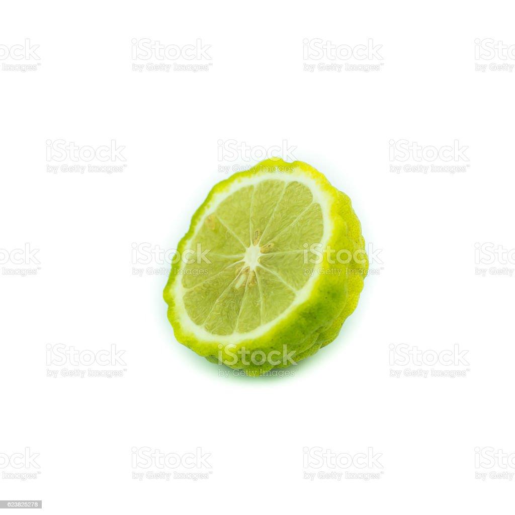Bergamot fruit, Bergamot isolated on white background. stock photo