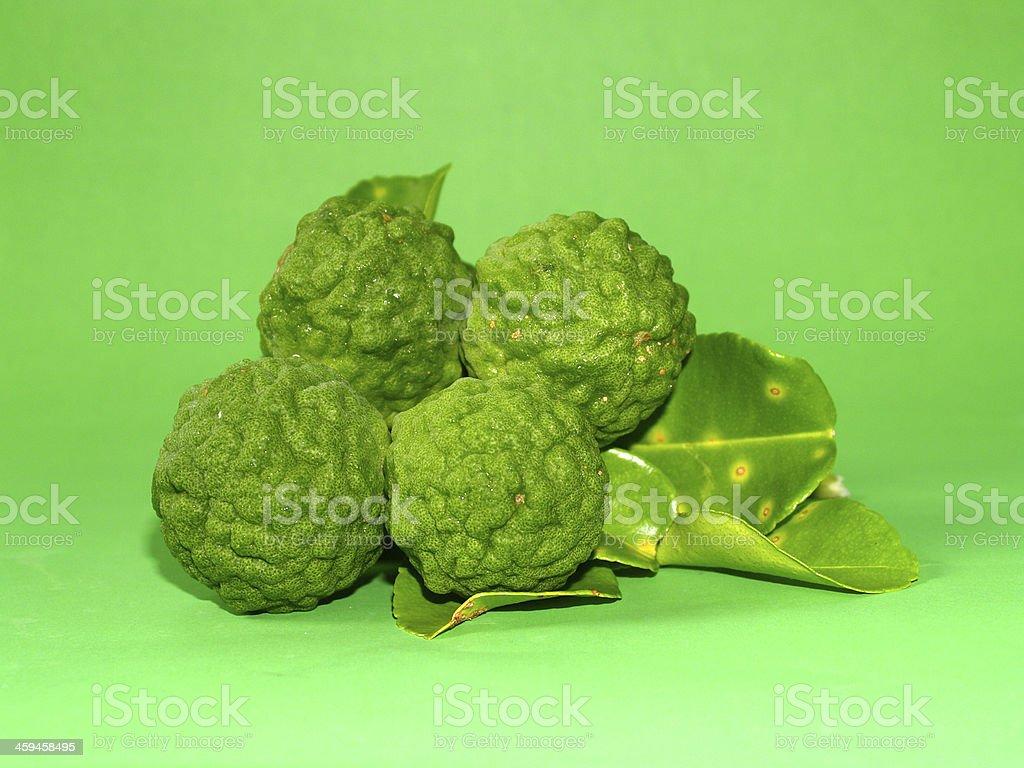 Bergamot Fruit Kaffir Lime stock photo