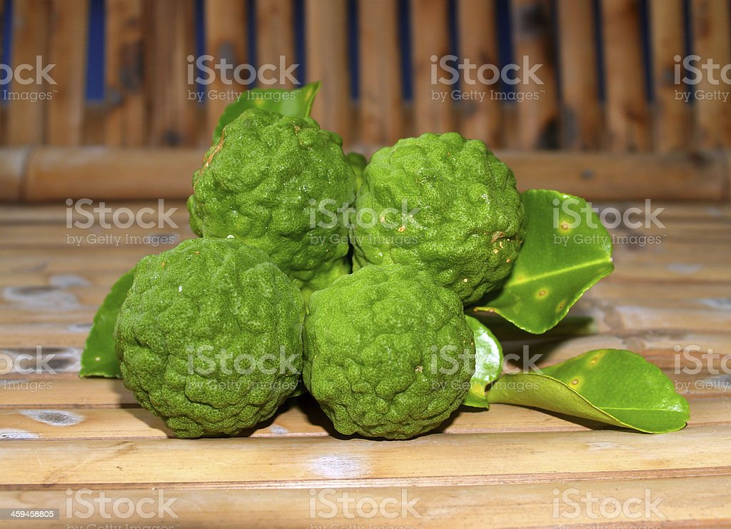 Bergamot Fruit Kaffir Lime royalty-free stock photo