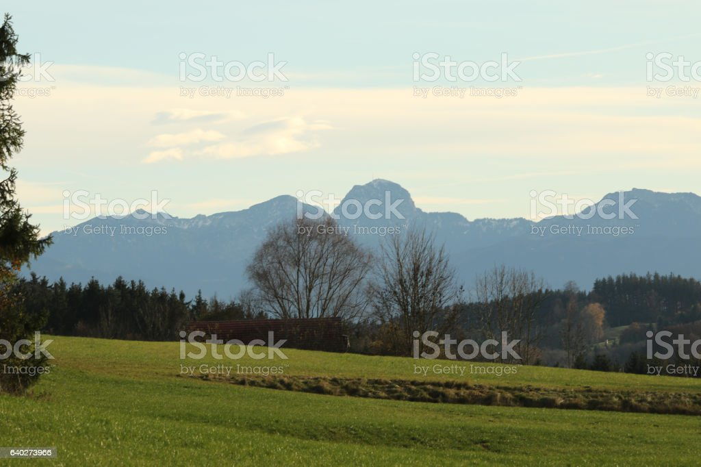 Bergblick, Alpen stock photo